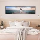床頭裝飾畫掛畫現代簡約大海風景畫臥室墻壁...