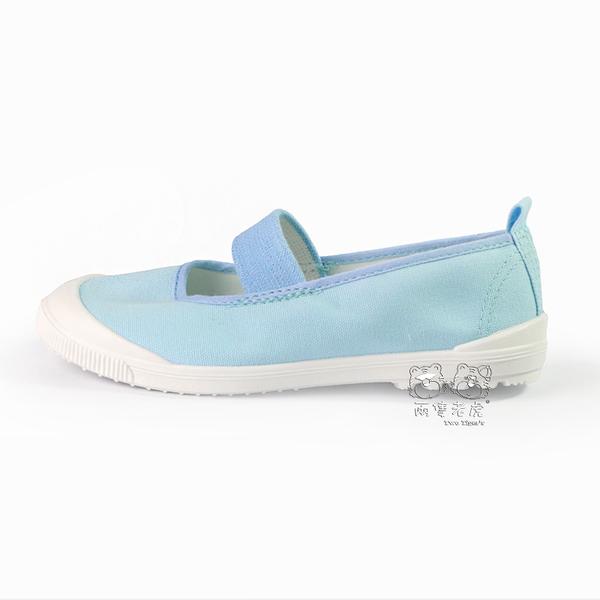 日本月星 MoonStar 淺藍 帆布 膠底 止滑 兒童室內鞋 中童鞋 NO.Q4667