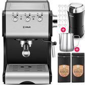 Donlim/東菱 DL-KF500S 咖啡機家用全半自動意式商用蒸汽式打奶泡igo 3c優購
