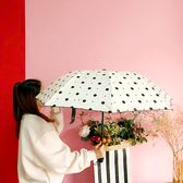 折疊雨傘 森系雨傘少女心圓點傘小清新波點晴雨兩用復古防曬原宿折疊傘【快速出貨八折搶購】