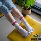 5雙裝 純棉五指襪中筒全棉分趾襪運動分指襪【創世紀生活館】