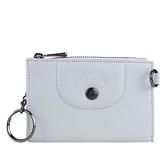 【南紡購物中心】LONGCHAMP LE PLIAGE CUIR系列小羊皮鑰匙零錢包(天澄)