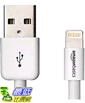 [美國直購] 暢銷冠軍 亞馬遜 iphone 認證線 白 AmazonBasics Apple Certified Lightning to USB Cable-3 Feet