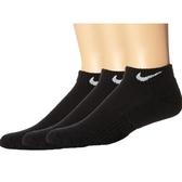 Nike耐吉- 女3包組低切運動襪(黑色)