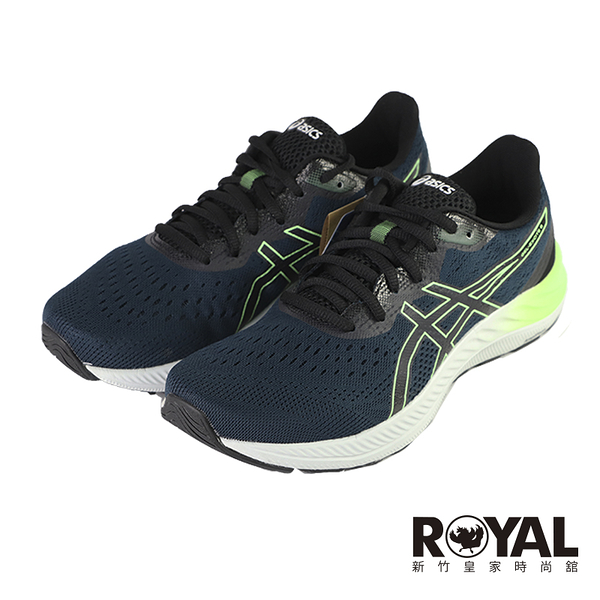 Asics Gel-Excite 8 深藍螢光綠 透氣 緩震 慢跑鞋 男款 NO.B2137【新竹皇家 1011B036-415】