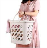 臟衣籃大號塑料手提浴室收納筐洗衣桶LYZ14 魔法街