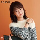 FOSSIL CARLIE MINI 復古金色雲杉綠皮革鑲鑽手錶ES4651