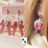 新年耳飾 新年紅色系耳環套裝集合日系韓版簡約個性耳釘耳夾無耳洞耳飾品【快速出貨好康八折】