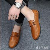 夏季豆豆鞋男男士休閒皮鞋男韓版套腳鞋子男 XW1762【潘小丫女鞋】
