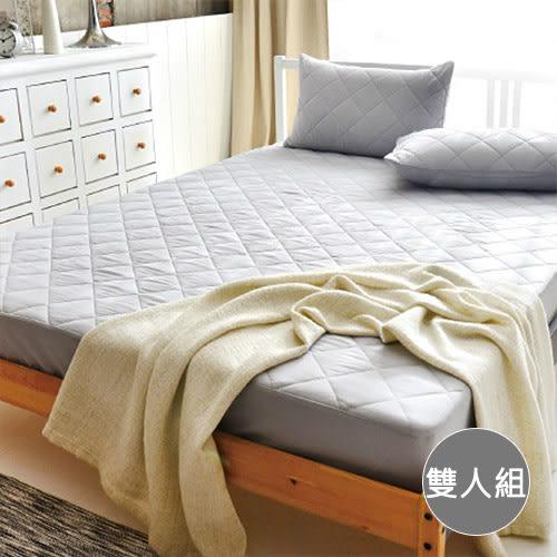 【LoveCity】MIT馬卡龍防汙炫彩保潔墊-雙人+枕頭套 x2入