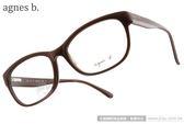 agnes b.光學眼鏡 ABP233 Y02 (摩卡棕) 極簡低調復古款 # 金橘眼鏡