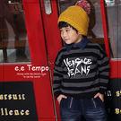 EETEMPO男童裝 秋冬保暖長袖T恤 條紋棉質上衣 A11196