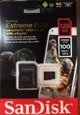 【公司貨】SanDisk Extreme Pro MicroSD 128GB TF 667X 讀取100MB/S 寫入90MB/S 含轉卡