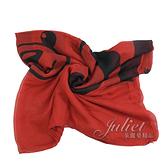 茱麗葉精品【全新現貨】MOSCHINO 03631 M1728 撞色LOGO小熊混紡絲質圍巾.紅黑