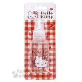 〔小禮堂﹞Hello Kitty 噴霧式空瓶《紅.愛心.大臉.格子》75ml.空罐.分裝瓶罐 5712977-46234