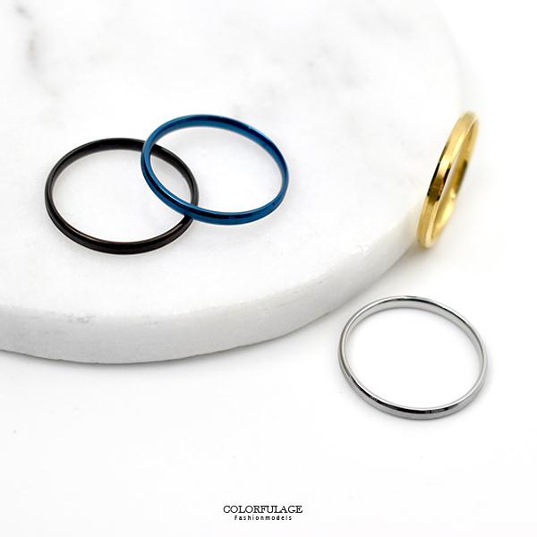 尾戒 日系窄版素款鋼製戒指NC230