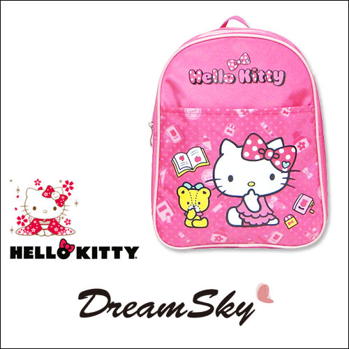 正版 凱蒂貓 Hello Kitty 兒童 單層 書包 桃色 可愛 孩童 學童 後背包 三麗鷗 授權 商品 DreamSky
