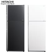 HITACHI【RG449/RG-449】日立 443公升 變頻琉璃兩門冰箱 一級能效