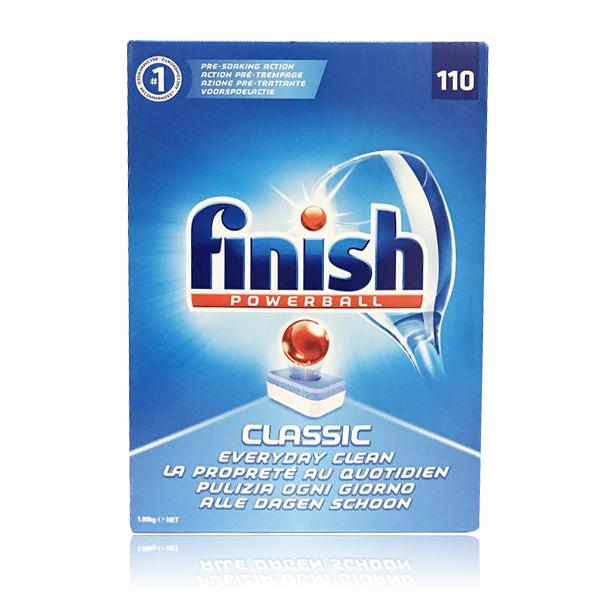英國進口 Finish 洗碗機專用 洗碗錠 110錠裝 (特大容量包裝)