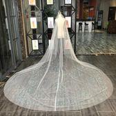 頭紗超長拖尾婚紗新娘結婚頭紗