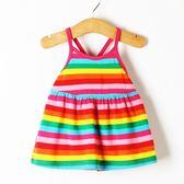 夏裝小女孩衣服女童寶寶吊帶洋裝洋氣兒童公主裙子