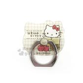 〔小禮堂〕Hello Kitty 造型壓克力手機指環架《黃.紙袋.蘋果.格紋》可360度旋轉 8039331-10005