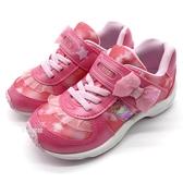 《7+1童鞋》日本月星   MOONSTAR 魔鬼氈  蕾絲裙  機能  運動鞋  D412  粉色
