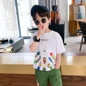 男童T恤短袖 兒童夏裝2020新款中大童上衣夏季洋氣韓版潮短袖T恤 JX2409『優童屋』
