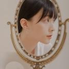 Queen Shop【07030695】個性雙線條鉤環造型耳針式耳環*現+預*