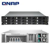 QNAP威聯通 TVS-1271U-RP-i3-8G 12Bay網路儲存伺服器