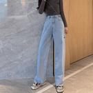 牛仔褲寬管褲小腳褲中大尺碼M-4XL11395牛仔闊腿褲春季胯大腿粗胖mm大碼顯瘦拖地褲潮1F051.依品國際
