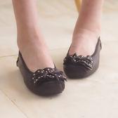 娃娃鞋 懶人鞋 休閒鞋 黑 女鞋 真皮平底鞋《Life Beauty》