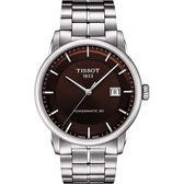 TISSOT 天梭 LUXURY 動力儲存80機械手錶-咖啡/41mm T0864071129100