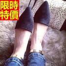 尖頭鞋大方簡約-休閒優質高跟真皮女鞋子58l4【巴黎精品】