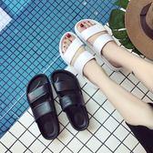 涼鞋女夏平底涼拖鞋女鞋夏季時尚外穿休閒百搭鞋子平跟 提前降價 免運直出
