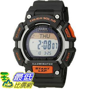 [美國直購] 手錶 Casio Mens STL-S110H-1ACF Tough Solar Runner Digital Black and Orange Watch