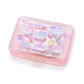 〔小禮堂〕Sanrio大集合 日製造型貼紙組附盒《粉.雲上》40枚入.裝飾貼.黏貼用品 4901610-03860