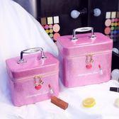 韓國多層化妝包大號化妝盒便攜旅行大容量化妝品收納手提化妝箱包