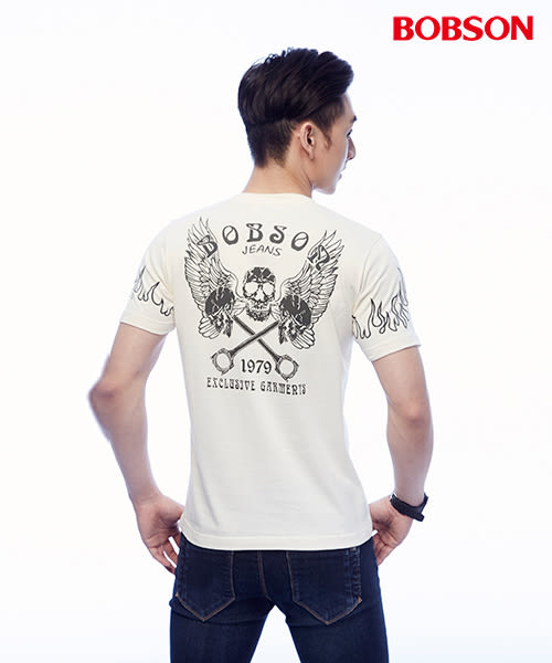 BOBSON 男款印圖上衣(25047-81)