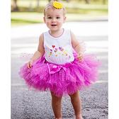 【北投之家】女寶寶套裝二件組 包屁衣+蓬蓬紗裙 紫愛心 | RuffleButts童裝 (嬰幼兒/兒童/小孩)