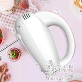打蛋器電動家用小型手持自動打蛋機奶油打發器攪拌和面烘焙工具套 JY8311【pink中大尺碼】