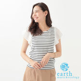 ❖ Hot item ❖ 荷葉袖造型短袖上衣 - earth music&ecology