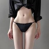 三角褲女 冰絲無痕內褲女夏薄款純棉襠情調甜美少女蕾絲低腰性感惑憾三角褲【八折搶購】