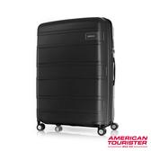 AT美國旅行者 30吋Litevlo極輕量耐衝擊飛機輪PP可擴充硬殼行李箱(黑)