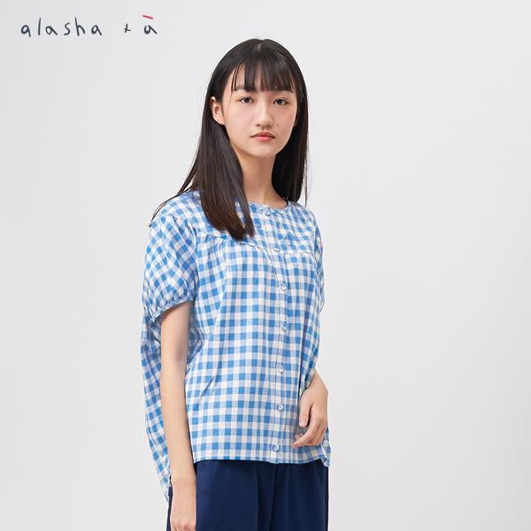 a la sha+a 玲瓏雙圓繡花短版球形上衣