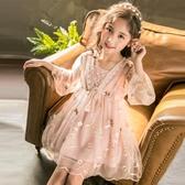兒童禮服 洋裝2019夏裝新款女童超洋氣公主裙夏季紗裙子小女孩禮服連衣裙