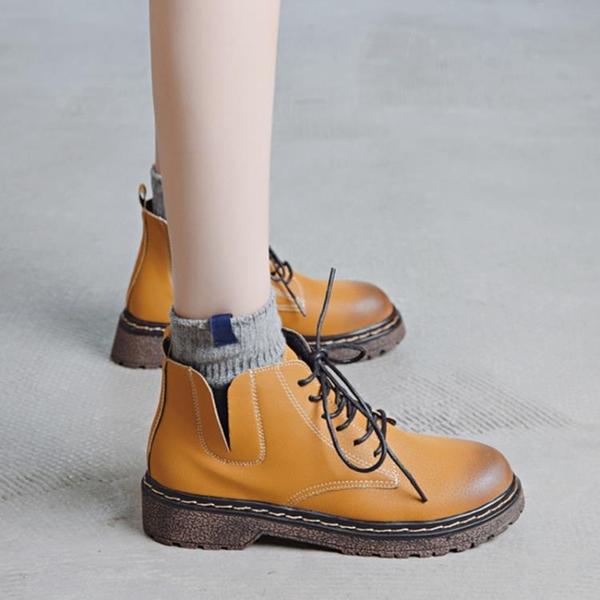 馬丁靴女英倫風新款2020秋季女鞋正韓百搭短靴棉鞋【快速出貨】