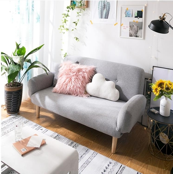 懶人沙發小戶型臥室簡易女孩單人雙人陽台迷你小沙發床兩用網紅款 亞斯藍