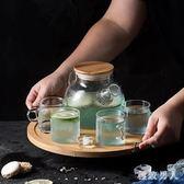 加厚玻璃茶壺日式透明花茶壺家用花草茶具套裝下午茶具加熱器含托  LN2500 【極致男人】
