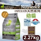[寵樂子]《美國紐崔斯天然寵糧》INFUSION天然糧系列-幼貓(雞肉)2.27kg/貓飼料